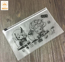 Children Cartoon Printing soft PVC zipper Plastic Pencil Case Pouch Bag