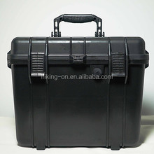 IP67 hard protective waterproof plastic equipment box/gun case with carring handle HTC015-1