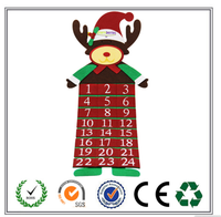 New fashion style best selling elk felt Christmas calendar for gifts