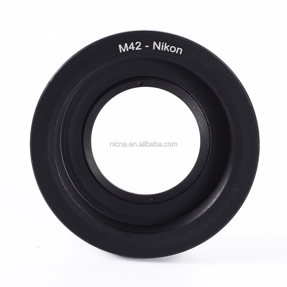 M42 Screw Mount Lens to For Nikon D810 D750 D7200 D3300 D5500 Adapter with Glass + Cap