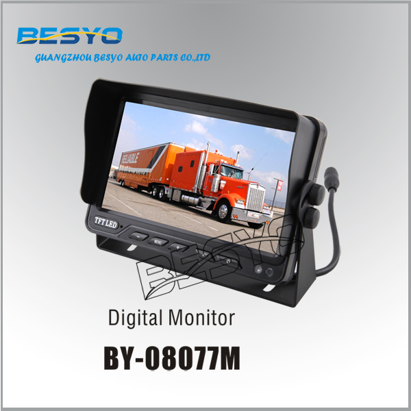 "HD 7""TFT Monitor, reversing aid monitor,Truck and bus monitor rearview camera system BY-C08077M"