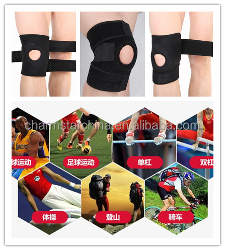 Adjustable waterproof ventilate neoprene knee support brace for basketball riding mountaineering runing outdoor exercise