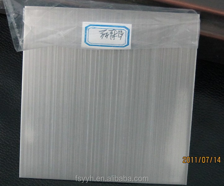 201 / 304 Ti-Zirconium Hairline Stainless Steel Sheet