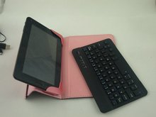 13.3inch tablet pc leather keyboard case for 7 inch tablet pc