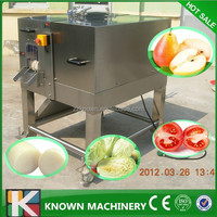 380v 1.5kw high effieient fruit shape vegetable fruit cutter/halved cutter