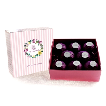 Natural organic custom SPA OEM logo bath bomb gift set