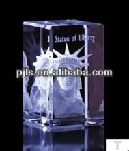 3D laser crystal the statue of liberty the American
