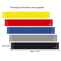 100% Satisfaction Warranty Guarantee Aerobic Calisthenics Crossfit Gymnastics Workout Exercise Elastic Resistance Loop Band Set