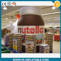 Hottest giant outdoor advertising inflatable replica chocolate sauce bottle / jar model, inflatable replicas model for mall