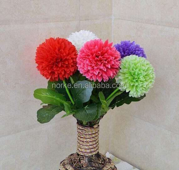 Round ball artificial flower bouquet for wedding