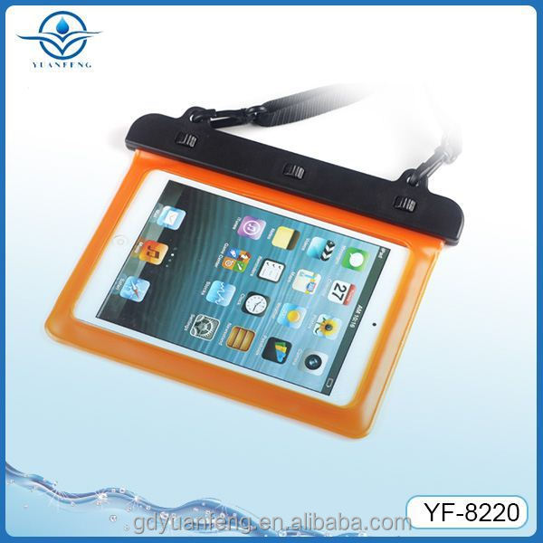 Factory price TPU /PVC waterproof bag case for ipad mini and similar 7-8 inch screen tablet