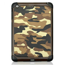 2015 Wholesale iCase Professional Camouflage case for IPAD AIR /IPAD 2 3 4 /Ipad mini with genuine leather case