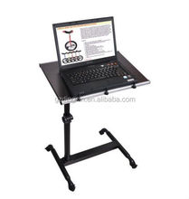 angle & height adjustable rolling laptop desk cart over bed (DX-BJ18)
