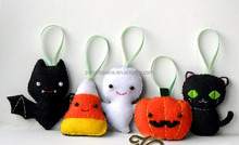 2017 new hotsale China party products handmade wed yard inflatable felt hanging haunted house ornament wholesale Halloween decor