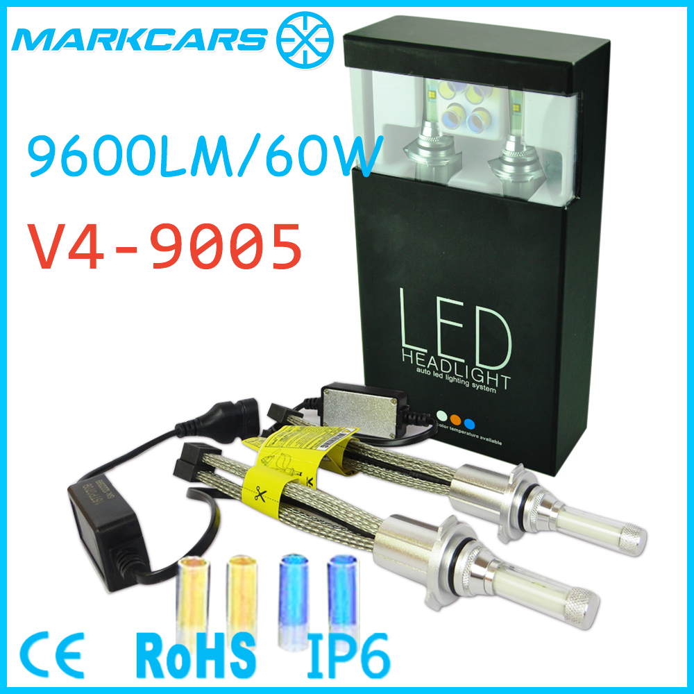 2017 Markcars fanless ce rohs ip68 high power 9005 led headlight auto led for car