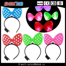 Best selling carnival val hair accessories , flashing led hair clasp , led up head accessories