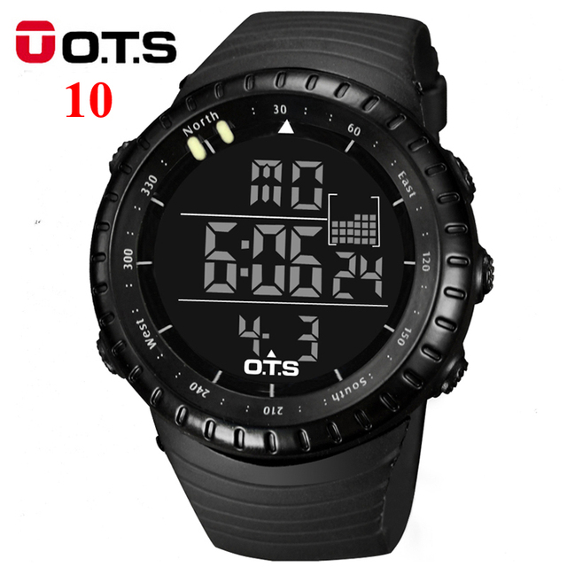 OTS Digital Smart Watches men sports 50M Professional Waterproof Quartz large dial hours military Luminous Sports OTS watches