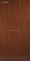High gloss Wood Grain UV MDF Panel / UV Coated Board / Wood Grain Melamine Parper Laminated Sheet