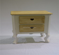 wholesale high quality wooden 2 drawer night stand/Bedside table