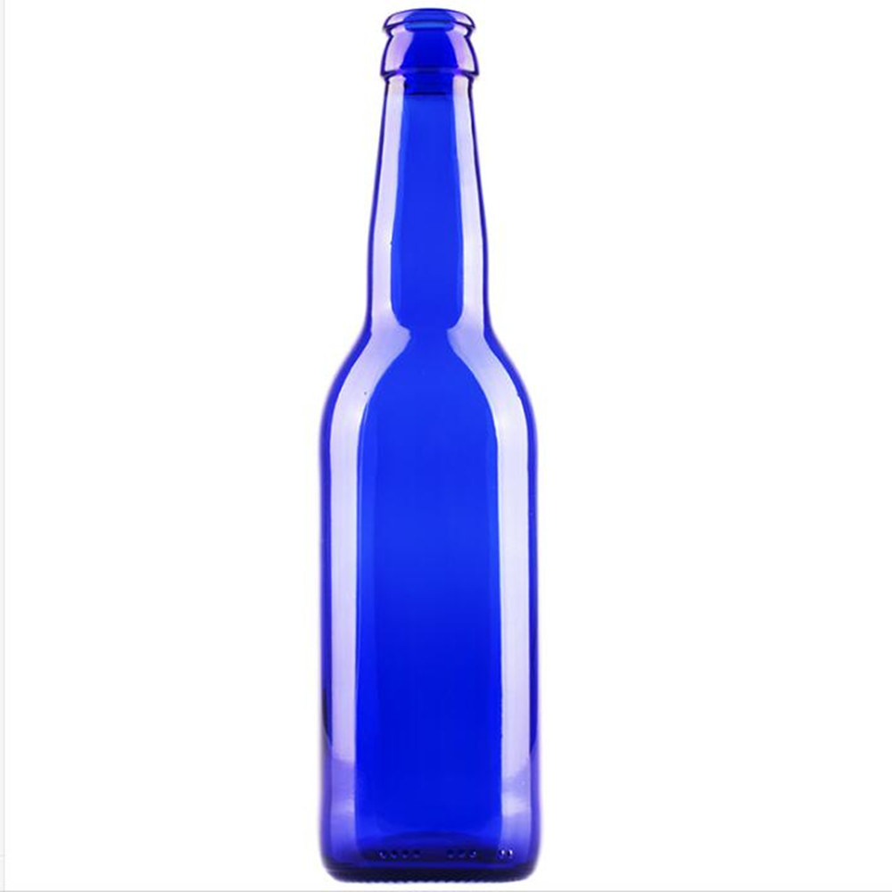 330ml Cobalt blue glass beer bottle