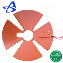 flexible 12v 24v 36v electric silicone strip heater with CE ROHS approved