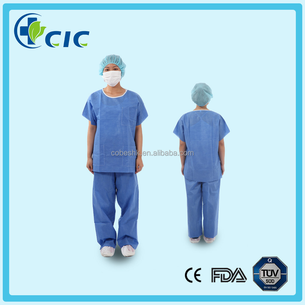 SMS Wholesale Disposable nonwoven medical inexpansive nursing scrub sets