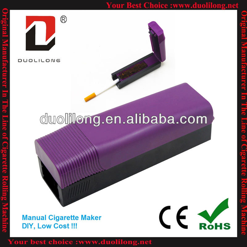 2013 newest and cheapest ABS manual cigarette maker for 6.5mm slim tube