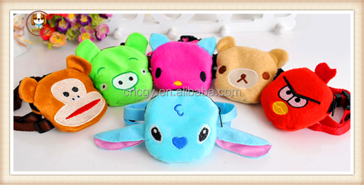 New dog Animal Pet Wallet Bag Purse Coin Key Bag puppy Backpack 5 Colors Chest sun back pulling on the rope