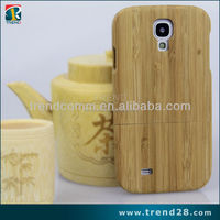 wholesale detachable bamboo wood case for samsung galaxy s4