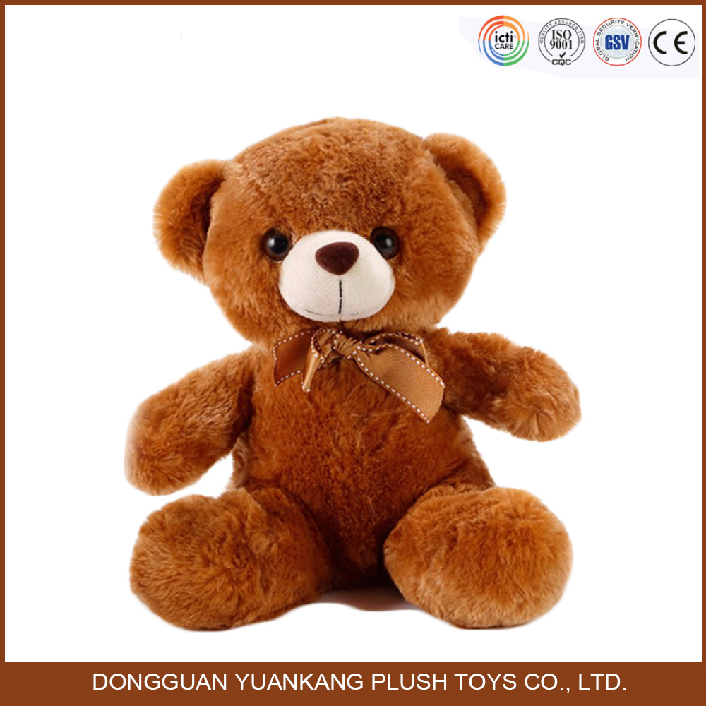 Hot sell cute brown color plush soft teddy bear