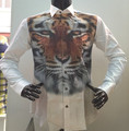 casual man shirt 2015 tiger 3D shirt new collection2015 exclusive