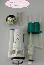 Dual flushing fitting in toilets ABS flush vales WC tank sanitary ware accessories
