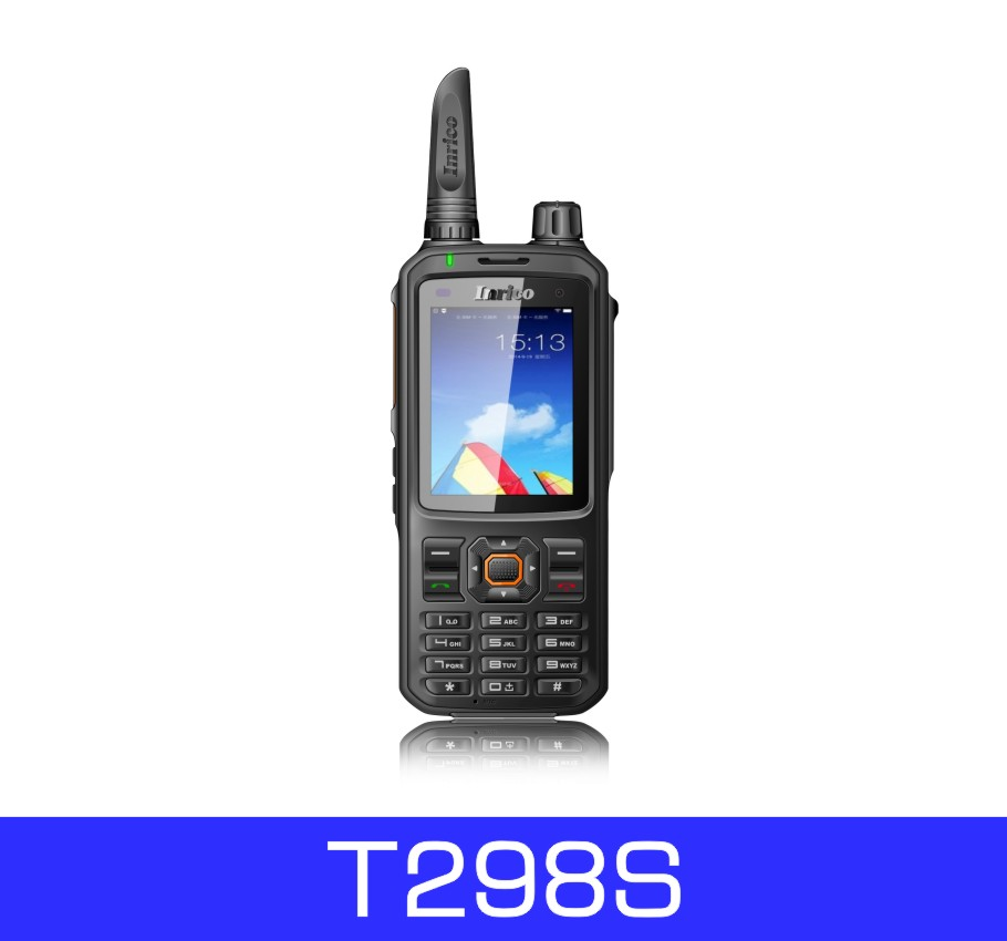 Inrico New Dual SIM Card 2G,3G,WCDMA Two-way Radio Mobile Phone Walkie-Talkie GPS Tracker T298S