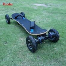 Rooder 4 wheel electric skateboard with all terrain off road big tire lithium battery and remote control