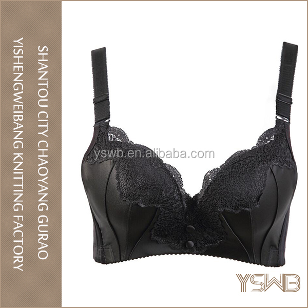 High quality cotton breathable black young girl ladies sex bra