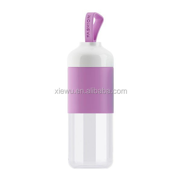 Pure Natural Reusable Portable Office Drink Glass Bottle