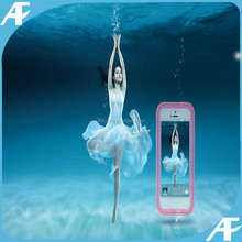 Waterproof pc+silicon case for iphone5/5s