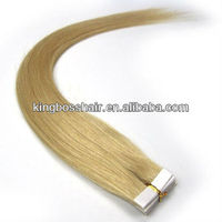 20 Inch Remy Tape Hair Human Hair Extensions#24- Medium Blonde 40 Pieces 100g/set Straight Women Beauty Salon Style Design
