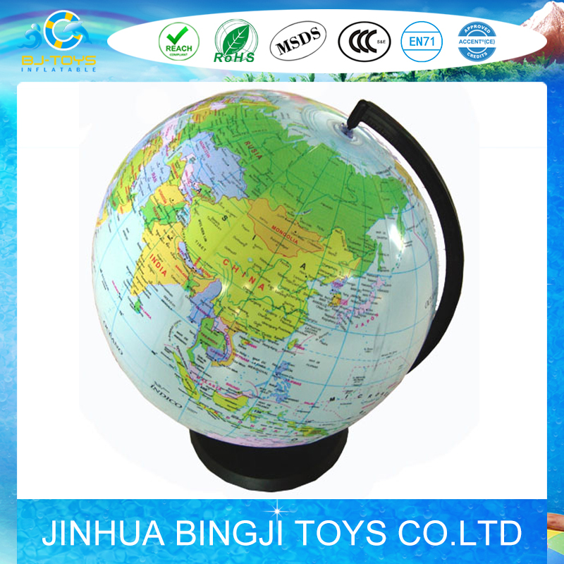 PVC air inflatable globe for promotions