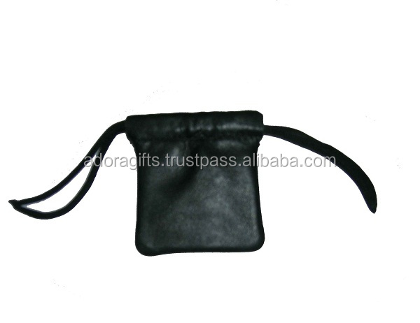 Black Mini Leather Coin Case / leather pouch / coin pouch / mini coin case / cute coin case for promotional