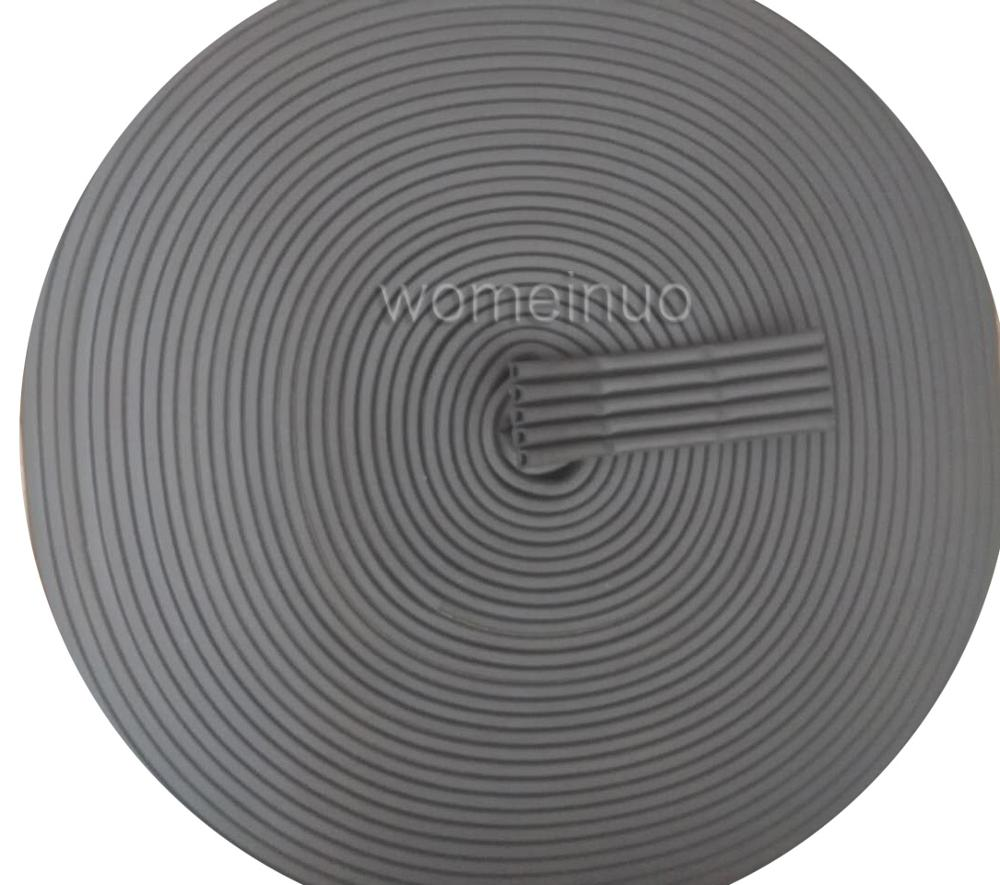 Waterproof Black D-type adhesive sealing rubber strip for door and window