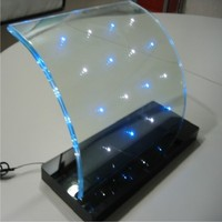 new design curved tempered led glass