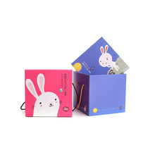 Colourful lovely barbie kids party corrugated paper gift box for barbie toys