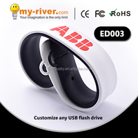 Hot sale good promotional silicone bracelet usb 8gb