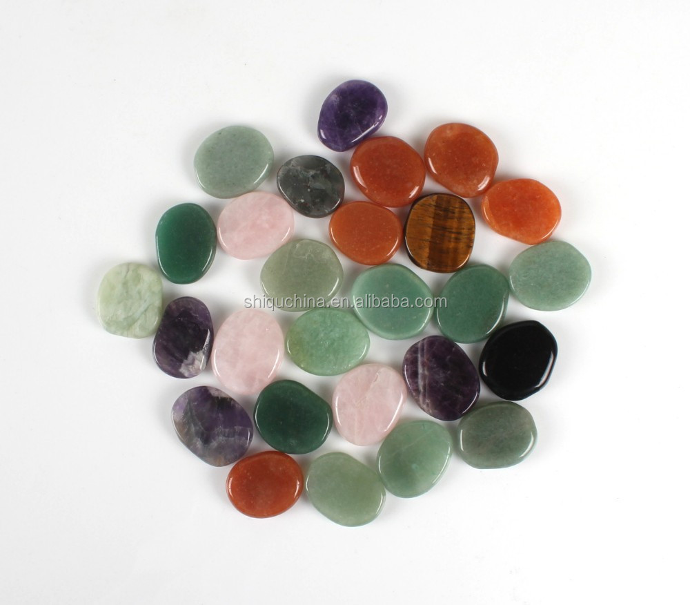 high polished small semi-precious stone with mixed color