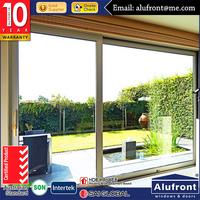 aluminium frame glass patio doors for garden use