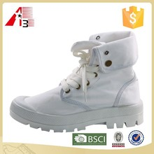 cheap white pure color canvas boot lady