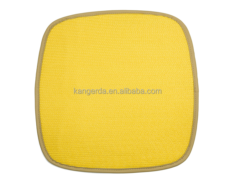 Yellow Plastic Ground Seat Cushion Mats for Floor Protection