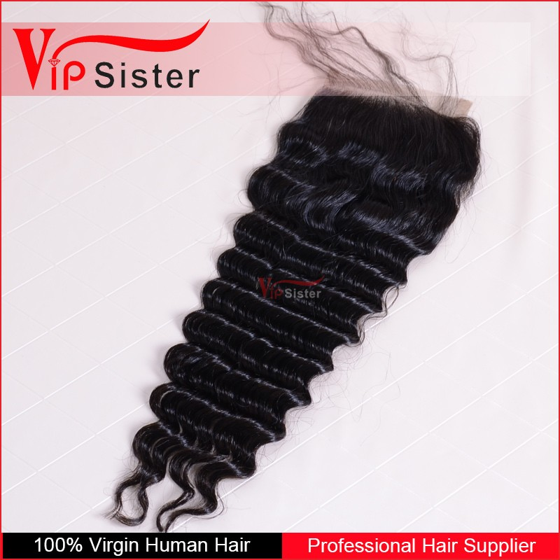 2016 hoe sale high quality 4x4 5x5 lace closure dee wave