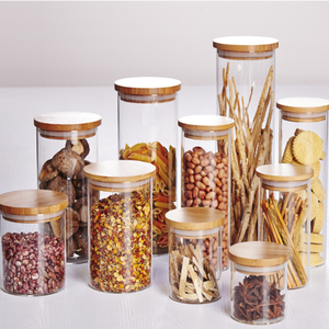 Lead-free high quality food container storage jar mason bottle